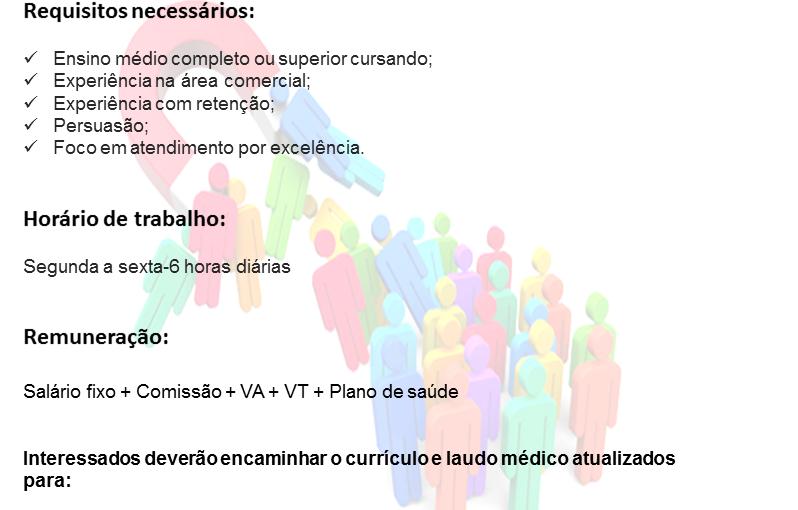 [GEBE Empregos] CONSULTOR DE RETENÇÃO 05/12