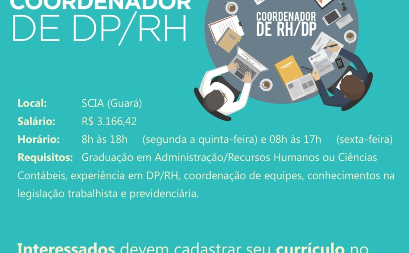 [GEBE Empregos] Coordenador de DP – IEL/DF – 04/12
