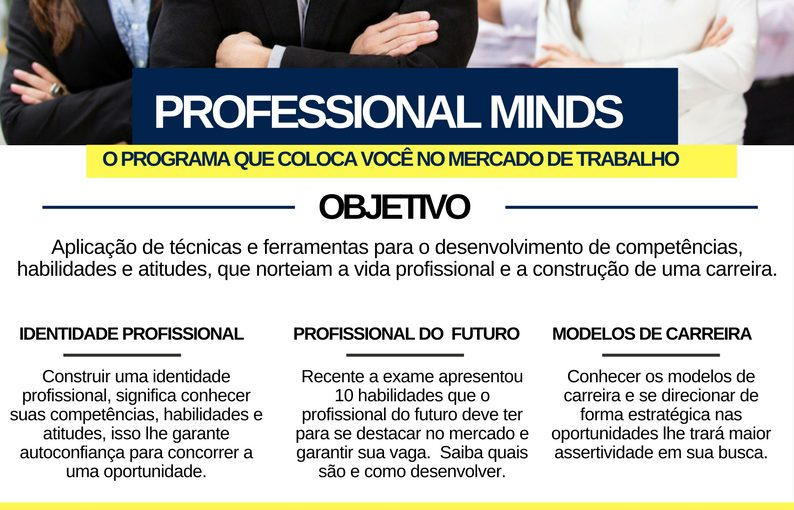 [GEBE Empregos] PROGRAMA PROFESSIONAL MINDS – Prates Consultoria