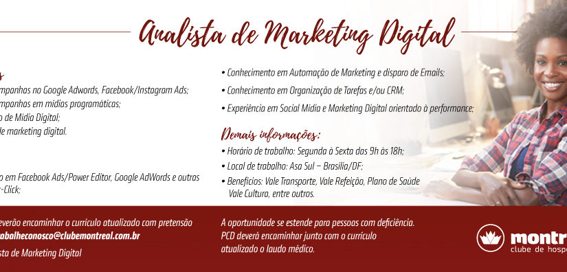 [GEBE Oportunidades] ANALISTA DE MKT DIGITAL – 25/01