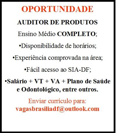 [GEBE Oportunidades] AUDITOR DE PRODUTOS – 05/01