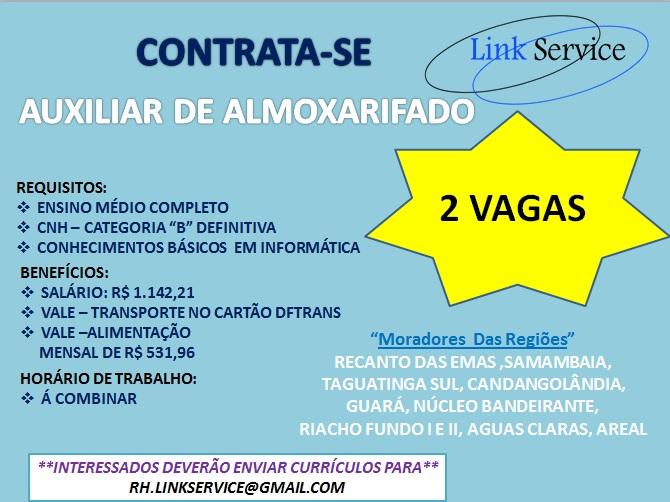[GEBE Oportunidades] AUX. ALMOXARIFADO – LINK SERVICE – 16/01