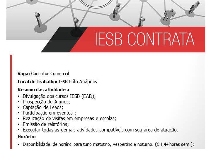 [GEBE Oportunidades] Consultor Comercial Anápolis-GO – Luziânia-GO – 23/01