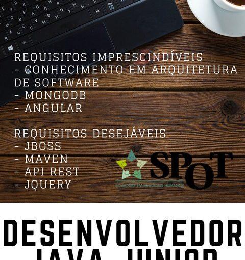 [ClubInfoBSB] SPOT contrata – Desenvolvedor Java Jr.