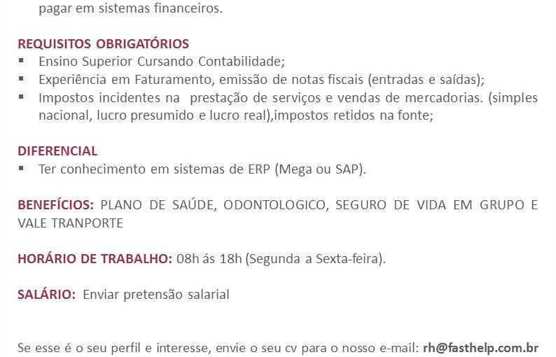 [GEBE Oportunidades] Oportunidade: Assistente Financeiro – 21/01
