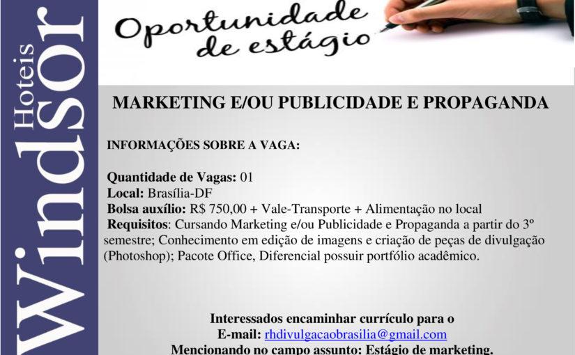 [GEBE Oportunidades] Estágio de marketing – 31/01