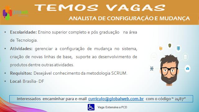 [ClubInfoBSB] Globalweb está em busca de Analista de Configuração e Mudança e Analista de Teste Sr