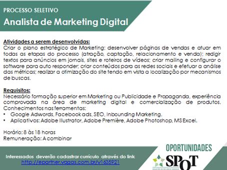 [GEBE Oportunidades] Oportunidade – Analista de Marketing Digital – 17/01