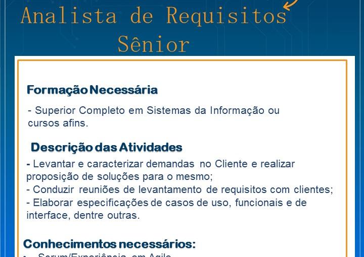 [GEBE Oportunidades] VAGA ANALISTA DE REQUISITOS SENIOR 03/01