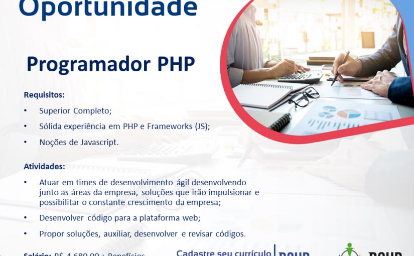 [GEBE Oportunidades] Programador PHP – 19/02