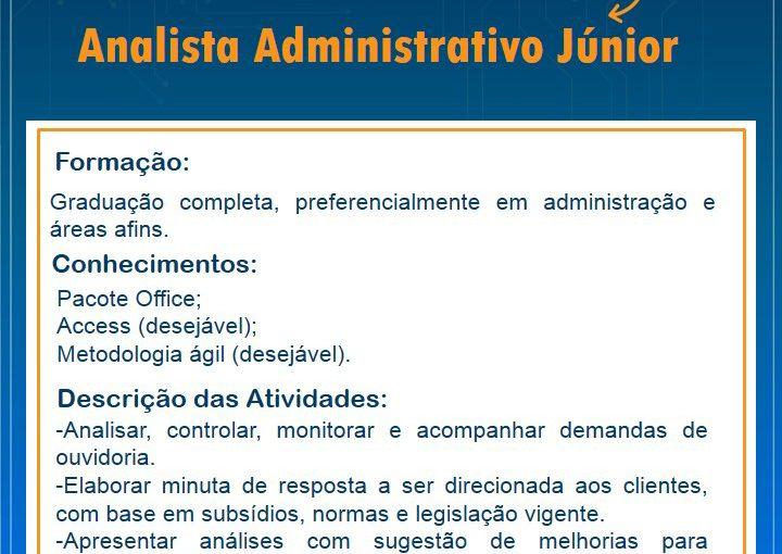 [GEBE Oportunidades] Analista de Ouvidoria Júnior – 20/04